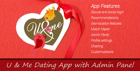 دانلود سورس کد codecanyon – You and Me Dating App with Admin Panel